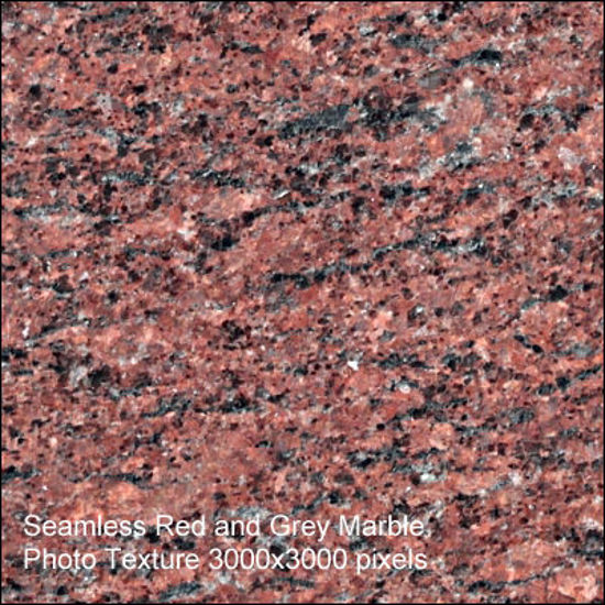 Picture of Seamless Marble Photo Textures 3000x3000 - Red-Grey-Marble