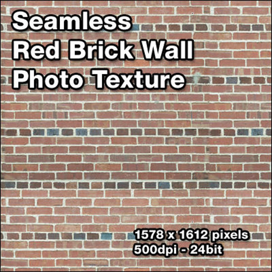 Picture of Seamless Red Brick Wall Photo Texture