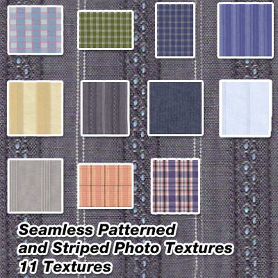 Picture of Seamless Patterned and Stripe Fabric Photo Textures