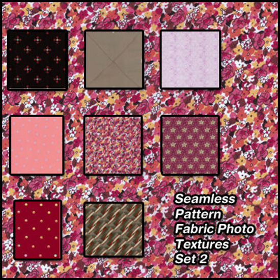 Picture of Seamless Pattern Fabric Photo Textures Set 2