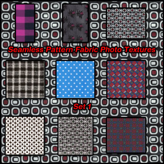 Picture of Seamless Pattern Fabric Photo Textures Set 1