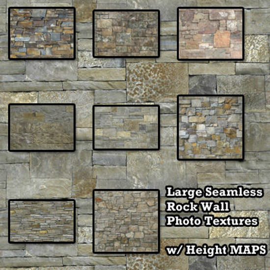 Picture of Seamless Rock Wall Photo Textures