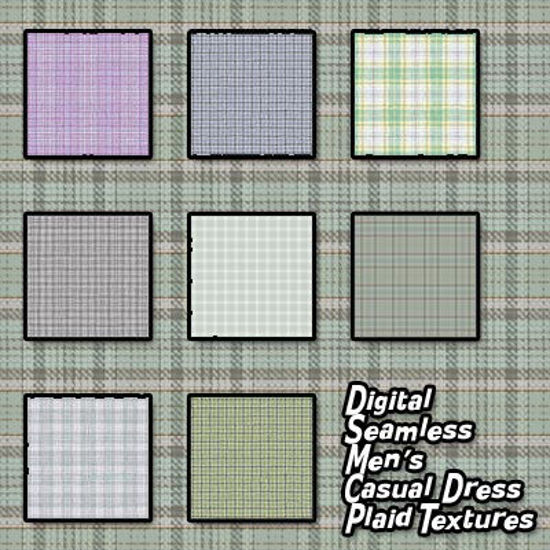 Picture of Digital Seamless Men's Plaid Dress Fabric Textures