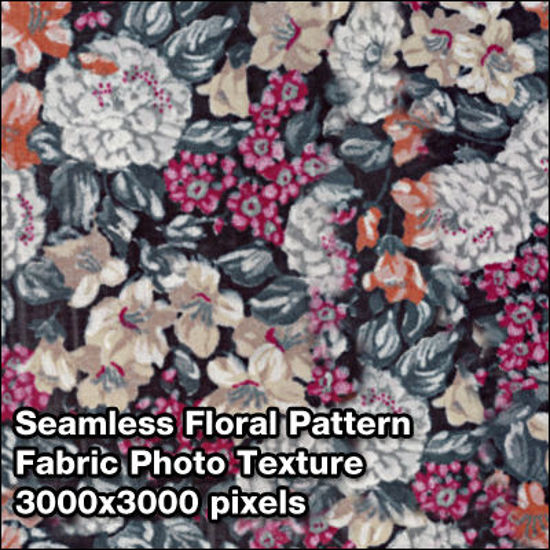 Picture of Seamless Women's Fabric Photo Textures Set - Floral-Blouse