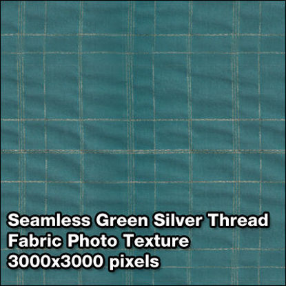 Picture of Seamless Women's Fabric Photo Textures Set - Green-With-Silver-Thread-Fabric
