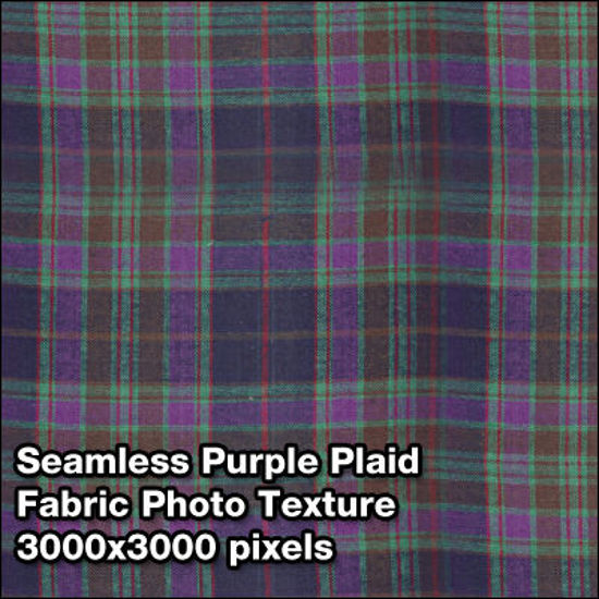Picture of Seamless Women's Fabric Photo Textures Set - Purple-Green-Plaid
