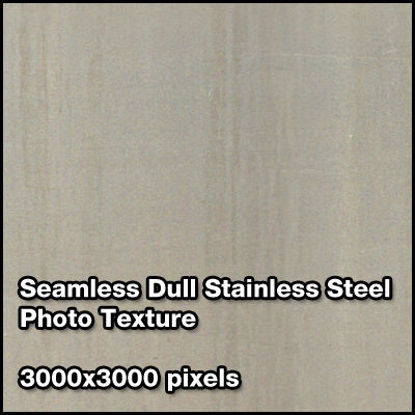 Picture of Seamless Metal Photo Texture Set - 3000x3000 Pixels - Dull-Stainless-Steel