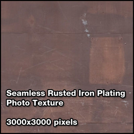 Picture of Seamless Metal Photo Texture Set - 3000x3000 Pixels - Rust-Steel-Plating