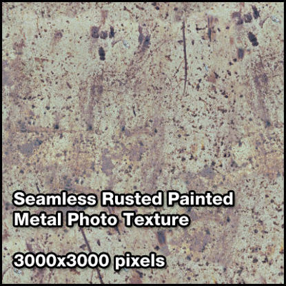 Picture of Seamless Metal Photo Texture Set - 3000x3000 Pixels - Rusty-Painted-Metal-Sheet