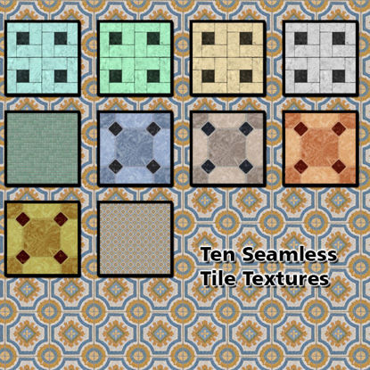 Picture of 10 Seamless Floor Tile Photo Textures