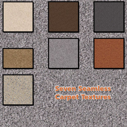Picture of Seven Seamless Carpet Photo Textures