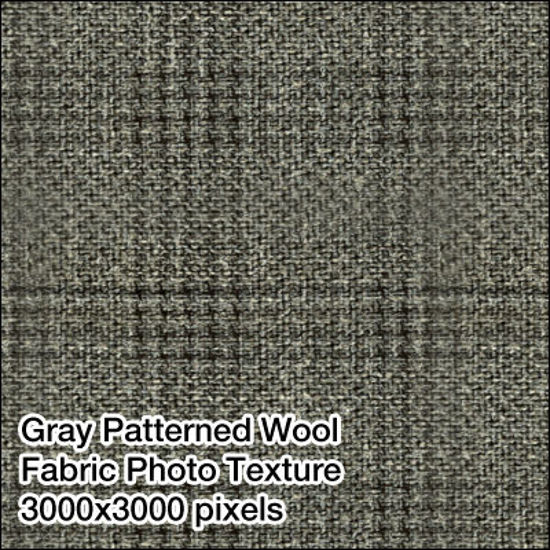 Picture of Seamless Men's Fabrics Photo Textures 3000x3000 pixels - Grey-Pattern-Suit-Fabric