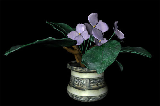 Picture of African Violets Potted Plant Prop