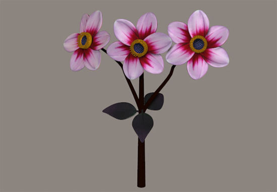 Picture of Pink Dahlia Plant Model