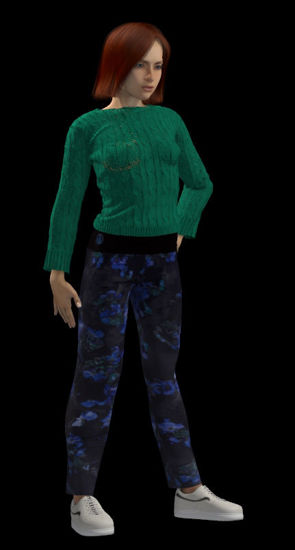 Picture of Knit Sweater and Slacks for Poser Roxie