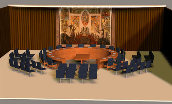 Picture of U.N. Council Chambers Scene