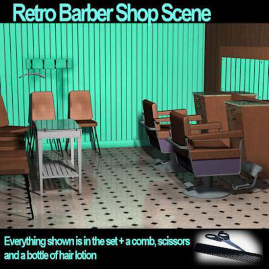 Picture of Barbershop-Retro style