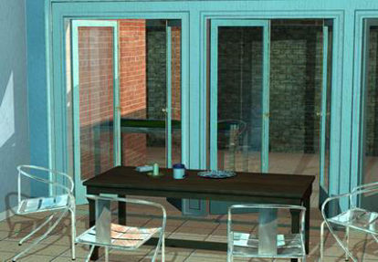 Picture of New York Dining room with patio -p4