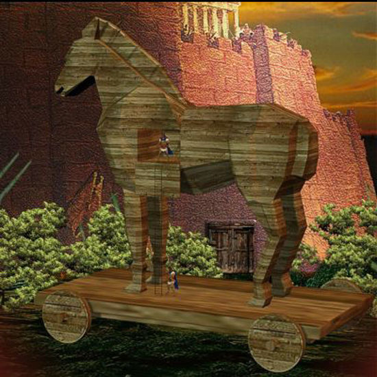 Picture of Greeks' trap: the Trojan Horse