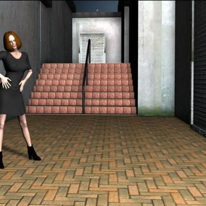 Picture of Alley with Steps Scene