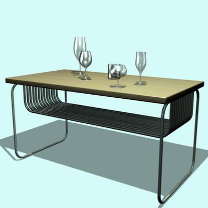 Picture of Table with glasses - P4