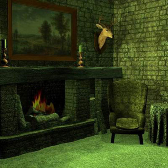 Picture of A Cozy fireplace corner scene - P4