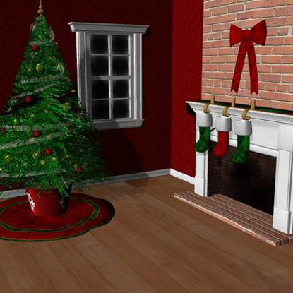 Picture of Xmas room 2006