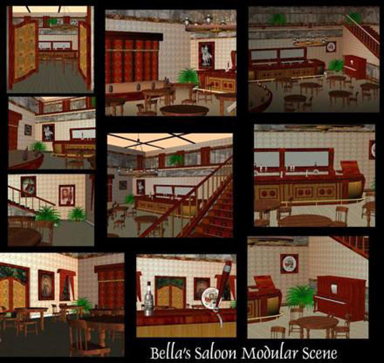 Picture of Bella's Saloon Modular Scene