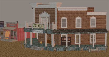 Picture of Complete Old West Town Street Scene (Number 1)