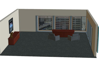 Picture of Business Executive's Office Scene