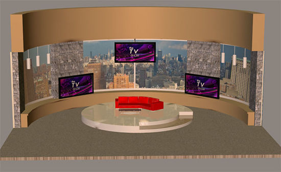 Picture of Daytime TV Talk Show Studio Set Scene