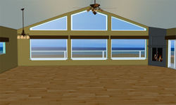 Interior and Exterior Beach House Scene - Poser and DAZ Studio Format