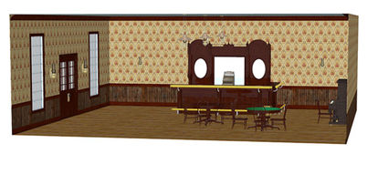 Picture of Complete 1890's Saloon Interior Scene - Poser / DAZ Format