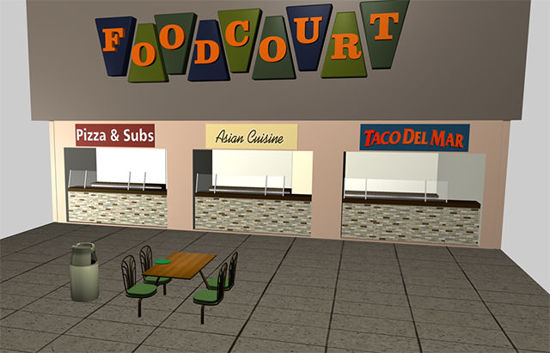 Picture of Modular Mall Scene - Food Court Part 2 - MallFoodCourt