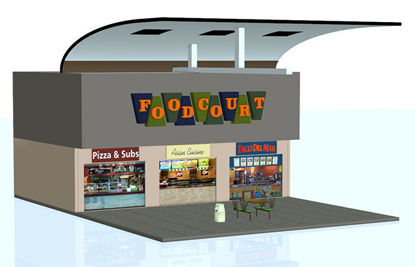 Picture of Modular Mall Scene - Food Court Part 2 - MMFC-AdjustableTable