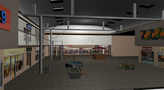 Picture of Modular Mall Scene - Large Retail Store Part 5