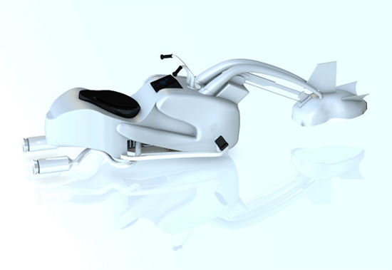 Picture of Sci-Fi Swoop Bike Model - Poser / DAZ Studio Format