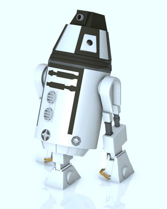 "Picture of Sci-Fi Personal ""Droid"" Bot Model with Movements - Poser / DAZ Studio Format"