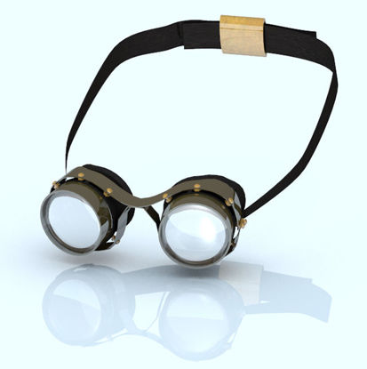 Picture of Adjustable Steampunk Goggles Model