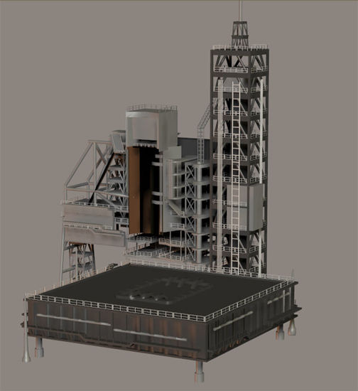 Picture of Sci-Fi Rocket Launch Gantry Model