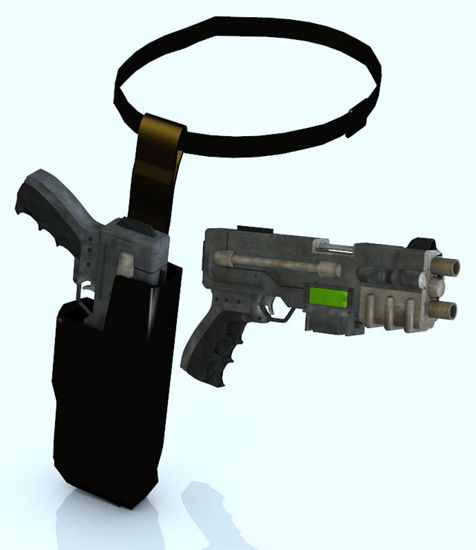 Picture of Sci-Fi Blaster Pistol Weapon Prop