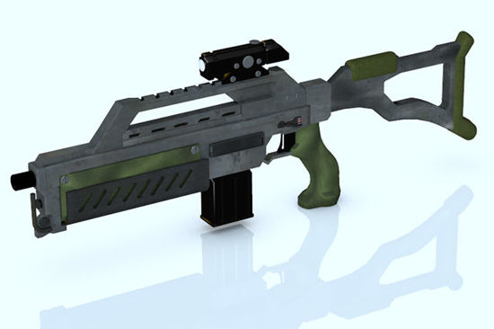 Picture of Sci-Fi Assault Rifle Model