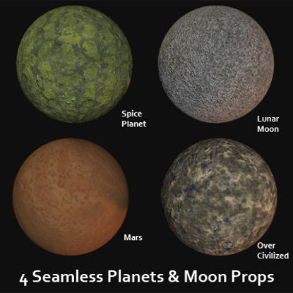 Picture of Planets and Moon Props