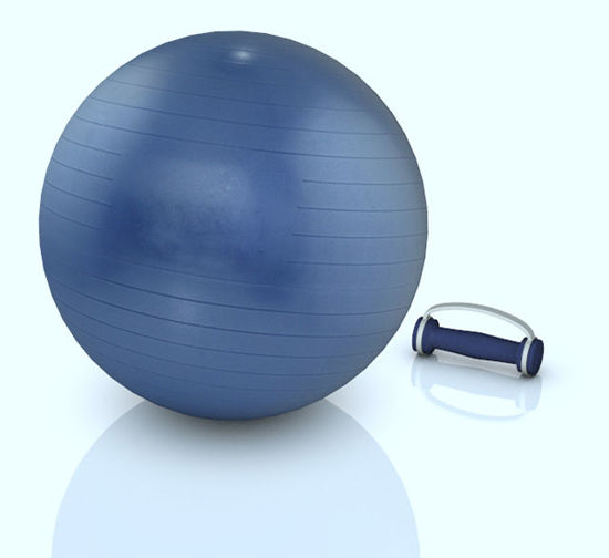 Picture of Exercise Ball and Hand Weight Fitness Models