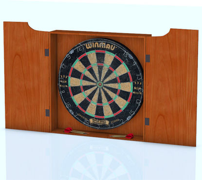 Picture of Dart Board and Darts Models with Movements
