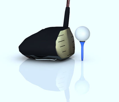 Picture of Golf Driver, Golf Ball and Tee Set