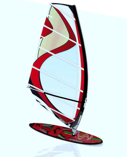 Picture of Wind Surfer Model with Movements