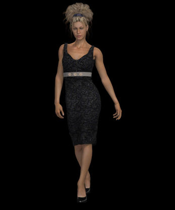 Picture of Dynamic Little Black Dress for DAZ Stephanie 3