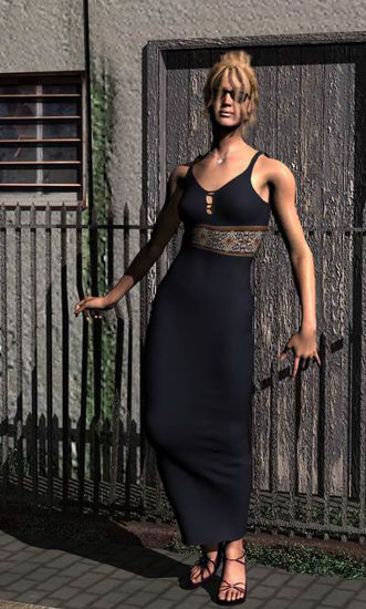 Picture of Evening gown with necklace for Steph petite