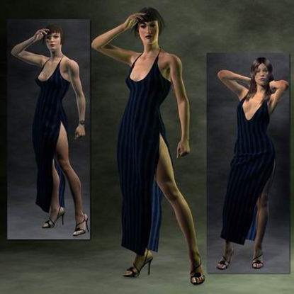 Picture of Side Split Evening Dress -SP3